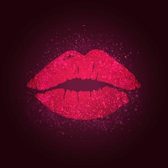 Distintivo delle labbra che bacia