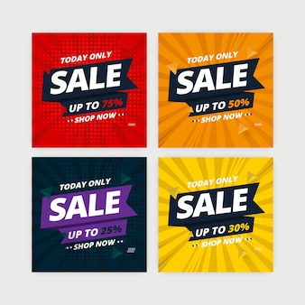 Distintivo di banner di vendita