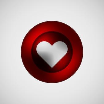 Distintivo di bolla rossa amore