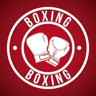 Distintivo di boxe logo design grafico
