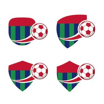 Distintivo di calcio di calcio, illustrazione vettoriale