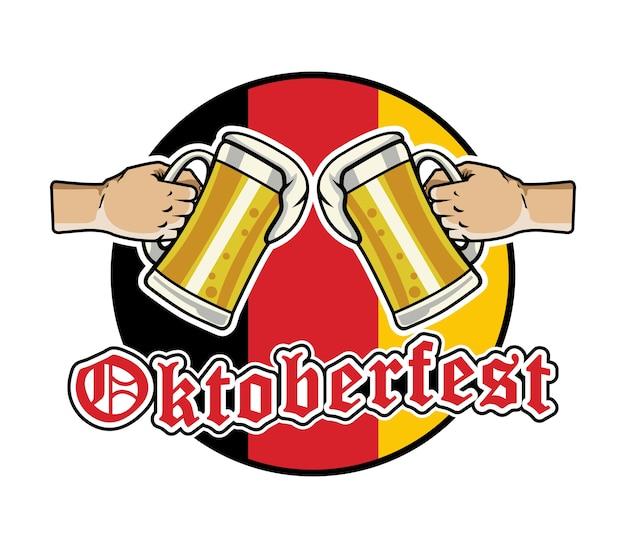 Distintivo di cerchio illustrazione vettoriale per l'oktoberfest