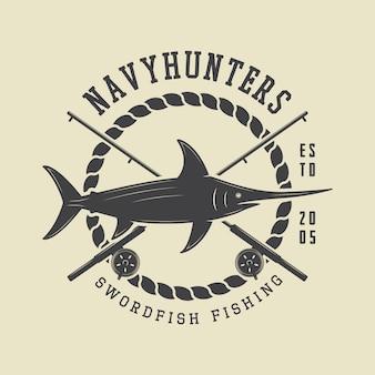 Distintivo di etichetta di pesca