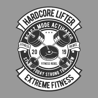 Distintivo di lifter hardcore