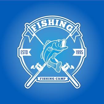 Distintivo di logo di pesca