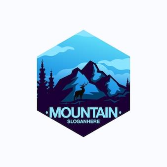 Distintivo di montagna blu