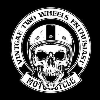 Distintivo di motociclisti teschio