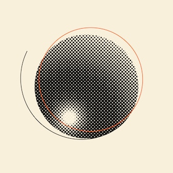 Distintivo di semitono vintage nero su sfondo beige