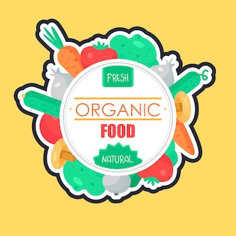 Distintivo di verdure fresche