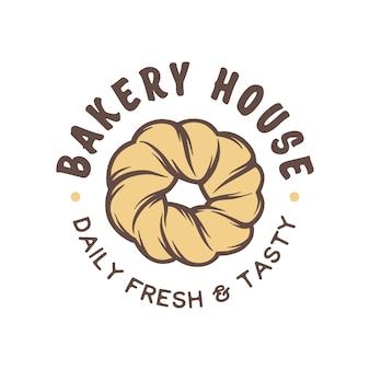 Distintivo, emblema, logo del negozio di panetteria stile vintage.