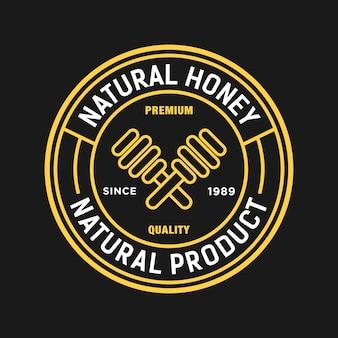 Distintivo logo miele ape dolce