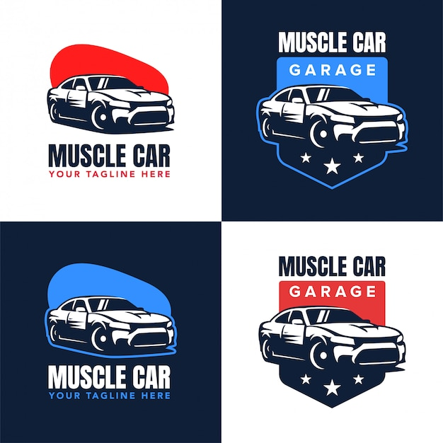 Distintivo logo muscle car