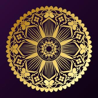 Distintivo mandala d'oro