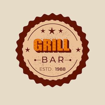 Distintivo per bar grill