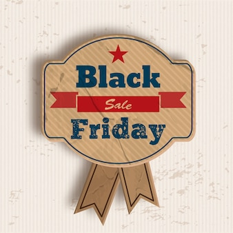 Distintivo per la vendita del venerdì nero