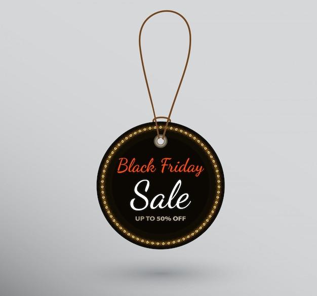 Distintivo rotondo con segno di vendita del black friday