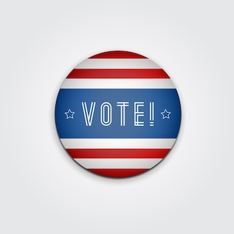 Distintivo voto. elezioni presidenziali statunitensi