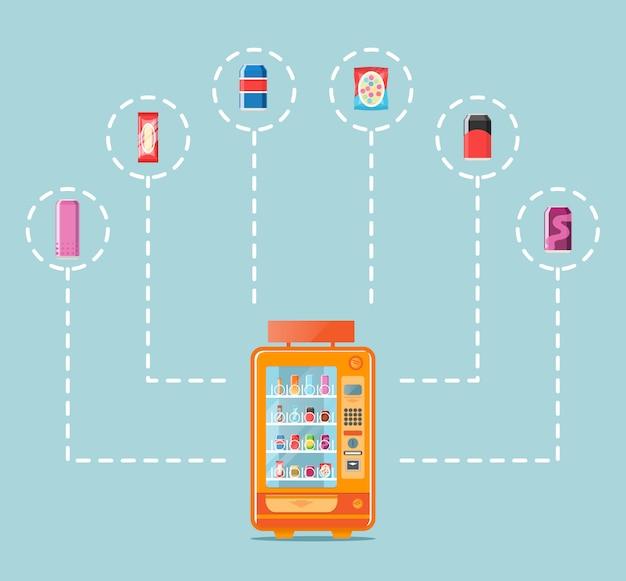 Distributore automatico in design piatto