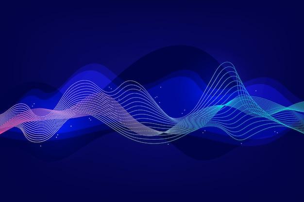 Distribuzione di linee ondulate sullo sfondo