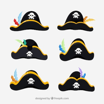 Diversi cartoni hat pirate