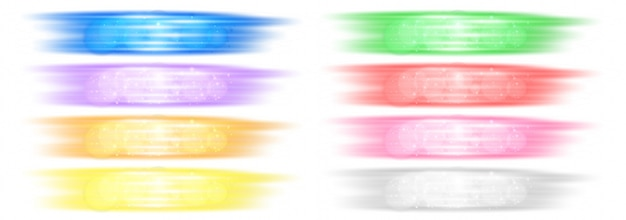 Diversi colori di pennellate