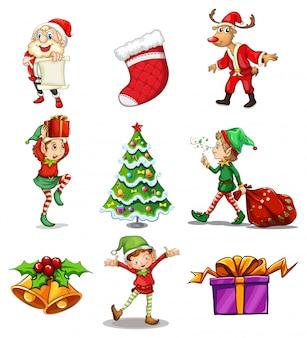 Diversi disegni natalizi