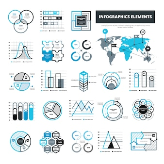 Diversi elementi infographic