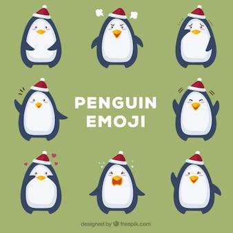 Diversi emoticon pinguino
