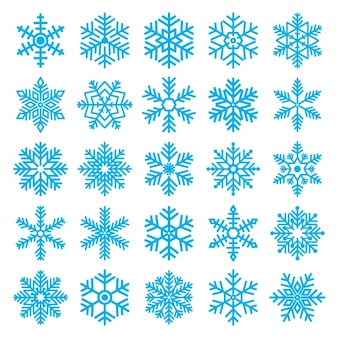 Diversi i fiocchi di neve