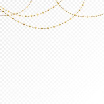 Diversi modelli e forme di perle d'oro.