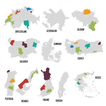 Diversi paesi mappa politica