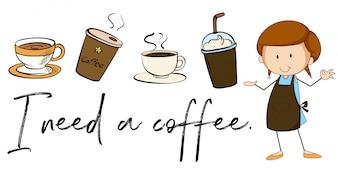 Sei tipi di virus su sfondo bianco scaricare vettori gratis - Diversi tipi di caffe ...