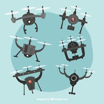 Diversi tipi di droni