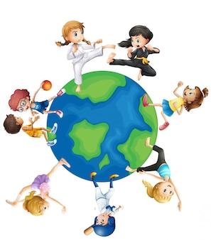 Diversi tipi di sport in tutto il mondo