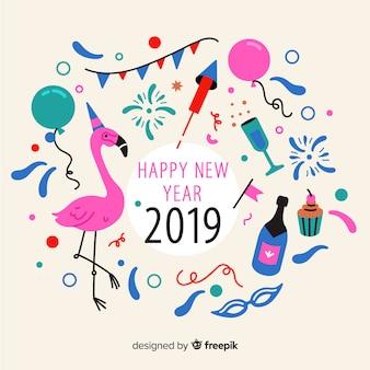 Divertente anno nuovo sfondo