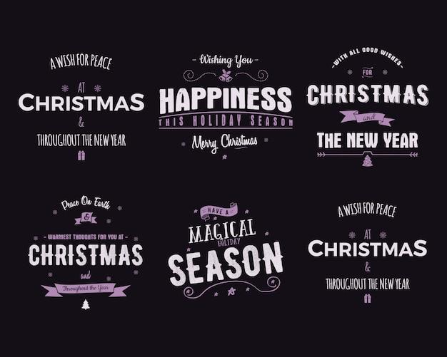 Divertente buon natale, felice anno nuovo