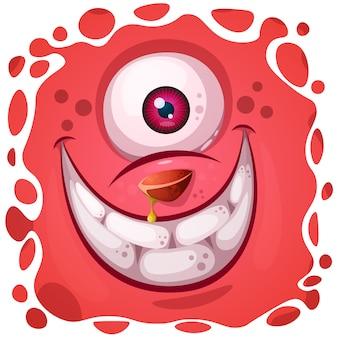 Divertente, carino personaggio pazzo di zucca. illustrazione di halloween