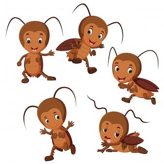 Divertente cartone animato di scarafaggio