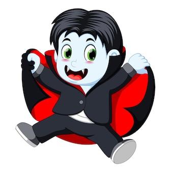 Divertente cartone animato piccolo vampiro