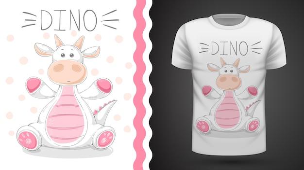 Divertente dino - idea per t-shirt stampata