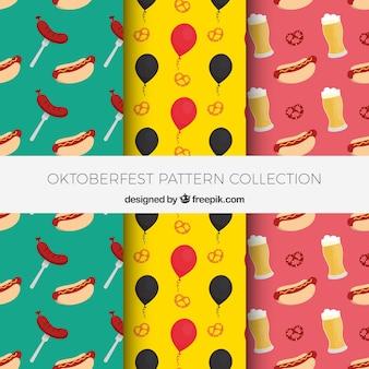 Divertente e colorato confezione di modelli oktoberfest