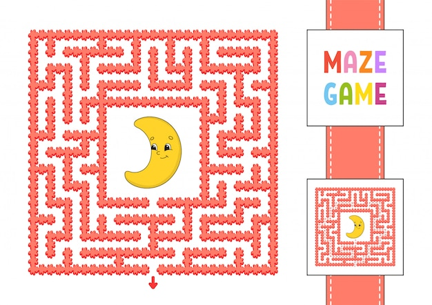 Divertente labirinto quadrato