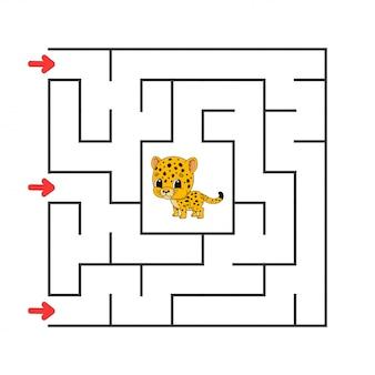 Divertente labirinto quadrato.