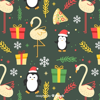 Divertente motivo natalizio colorato