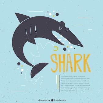 Divertente squalo illustrazione