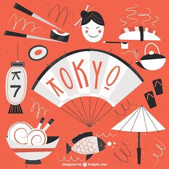 Divertente tokyo illustrazione