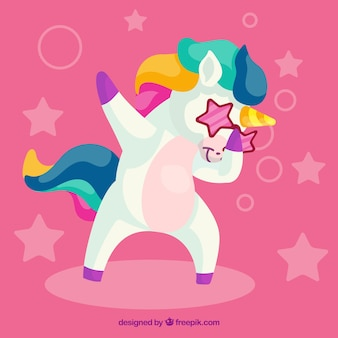 Divertente unicorno facendo tamponando