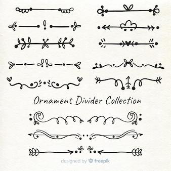 Divisore di ornamento disegnato a mano