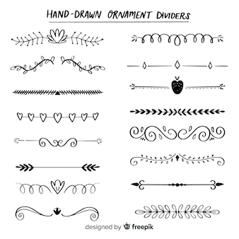 Divisori disegnati a mano
