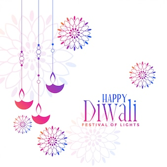 Diwali decorativi pendenti variopinti delle lampade di diya